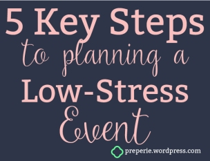 Follow These 5 Key Steps to Reduce Stress When Planning Your Next Event   preperie.wordpress.com