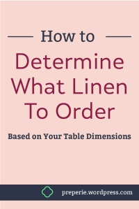 How to Know Linen Size Based on Table Dimensions