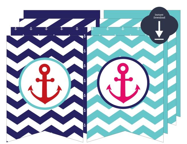Nautical Anchor Banner | preperie.com