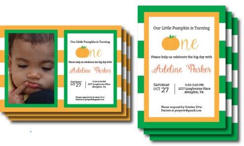 Preppy Pumpkin Invitations | preperie.etsy.com