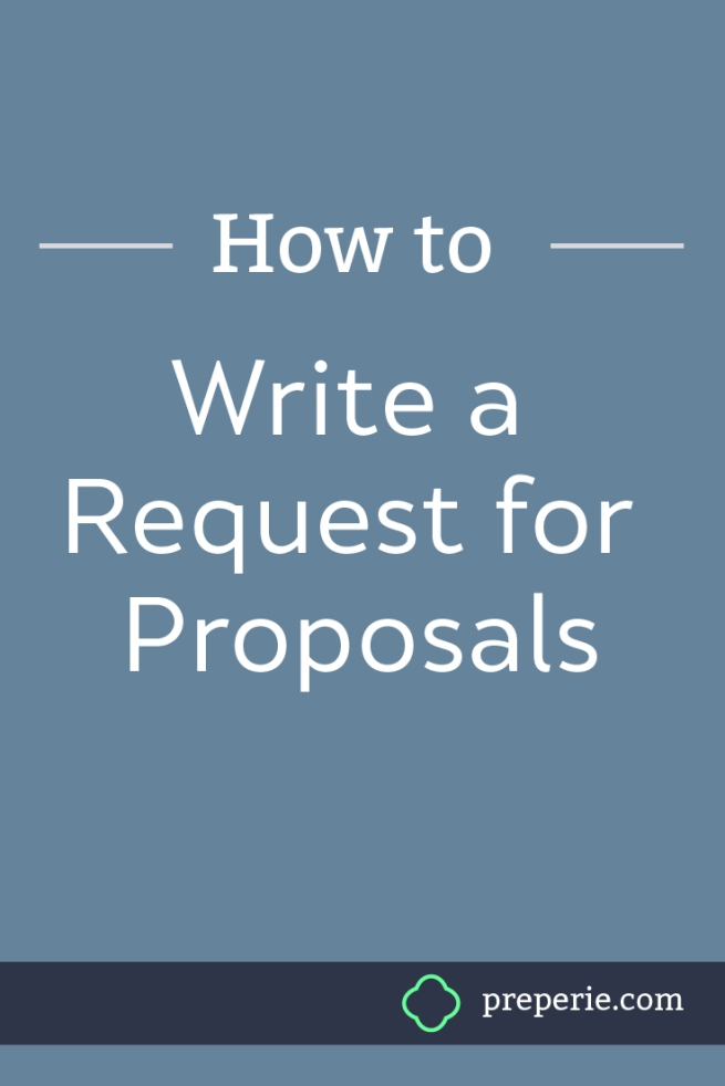 How to Write a Request for Proposals | preperie.com