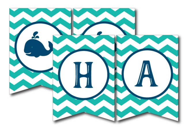 Happy Birthday Whale Banner | preperie.etsy.com