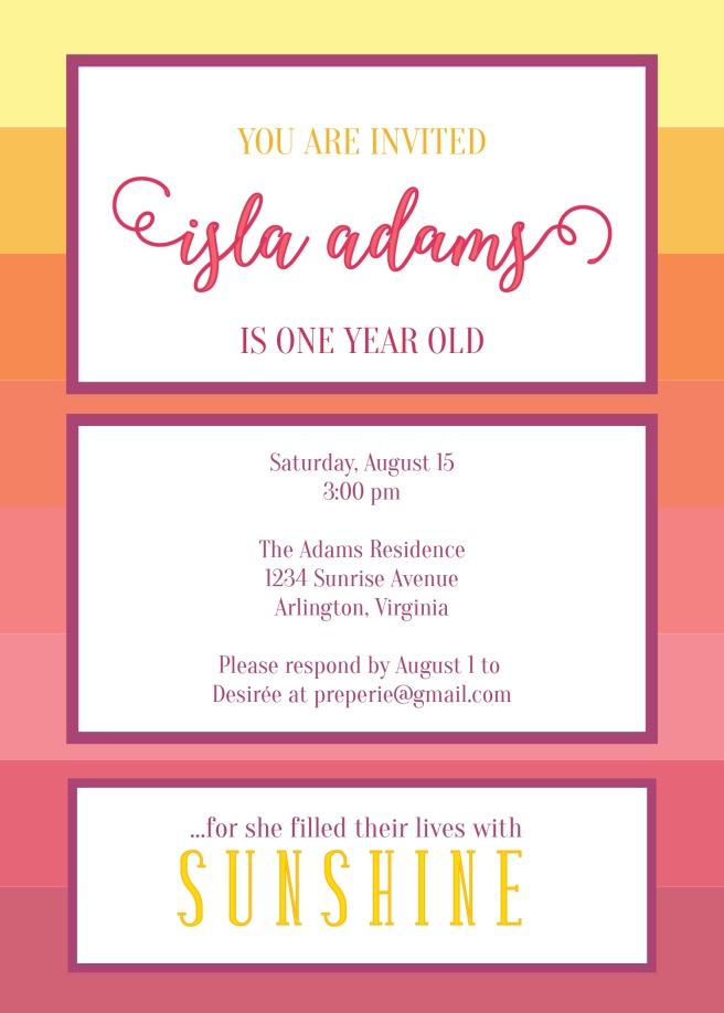 Ombre Sunset Invite   preperie.com