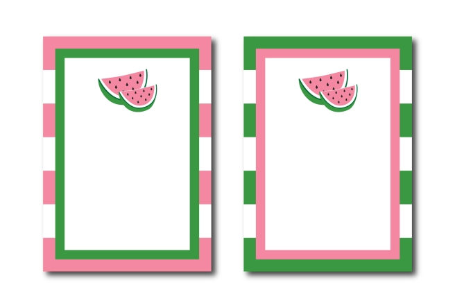 Pink and Green Watermelon Invitation Background | preperie.etsy.com