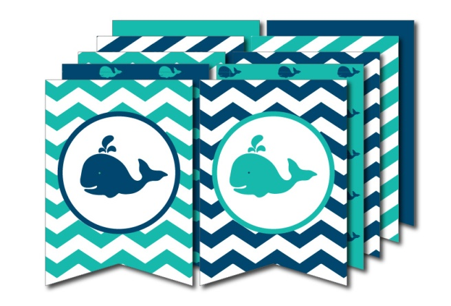 Whale Party Bunting | preperie.etsy.com