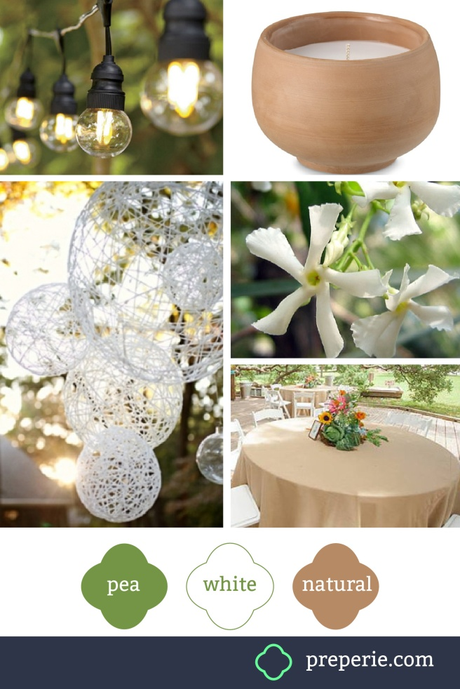 White Party Decor Palette | preperie.com