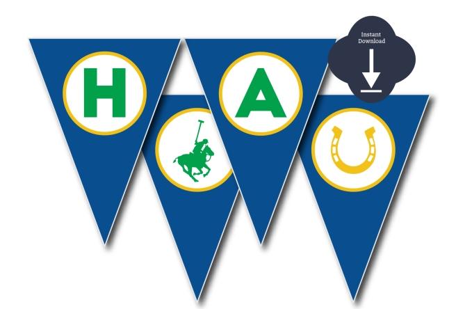 Blue Polo Birthday Banner | preperie.etsy.com