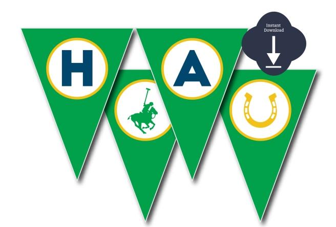 Green Polo Birthday Banner | preperie.etsy.com