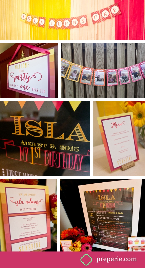 Ombre Party Banner and Invitation | preperie.com