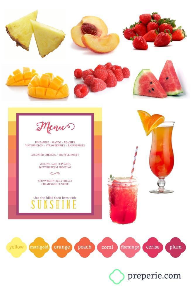 Sunset Party Menu | preperie.com