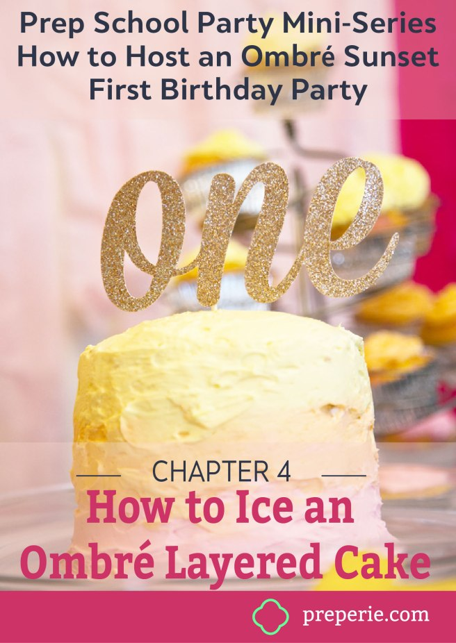 How to Ice an Ombre Cake with Buttercream Frosting | preperie.com