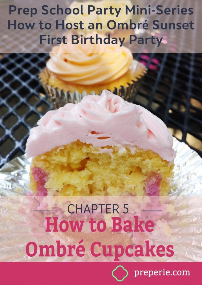 How to Bake Ombre Cupcakes | preperie.com