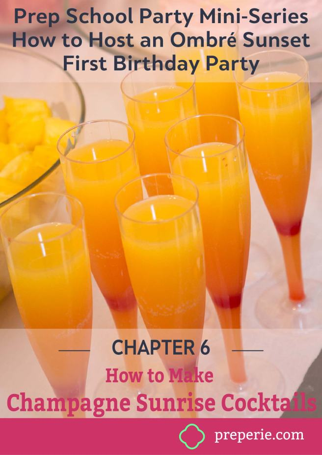 Easy Champange Sunrise Cocktails Recipe | preperie.com