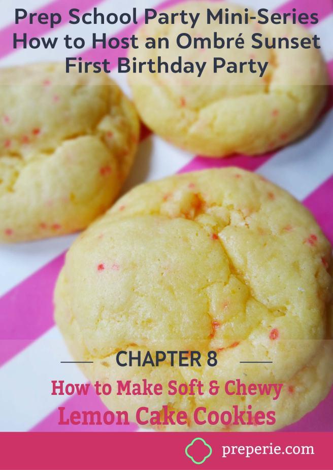 Soft & Chewy Lemon Cake Cookies Recipe | preperie.com