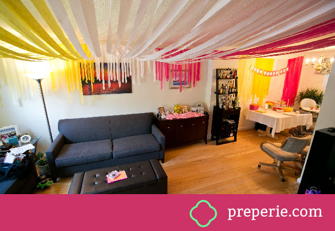 Streamer Canopy and Streamer Wall | preperie.com