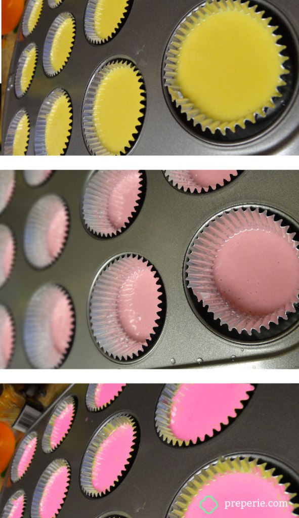 Ombre Cupcake Batter | preperie.com