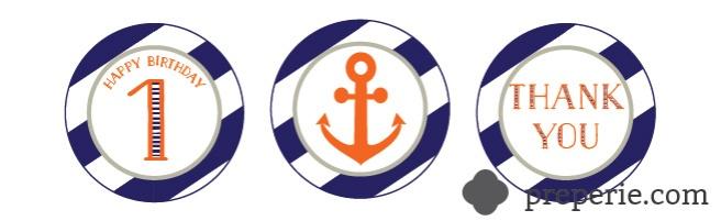 Nautical Cupcake Toppers | preperie.com