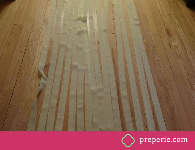 How to Make a Streamer Wall Step 2   Preperie.com