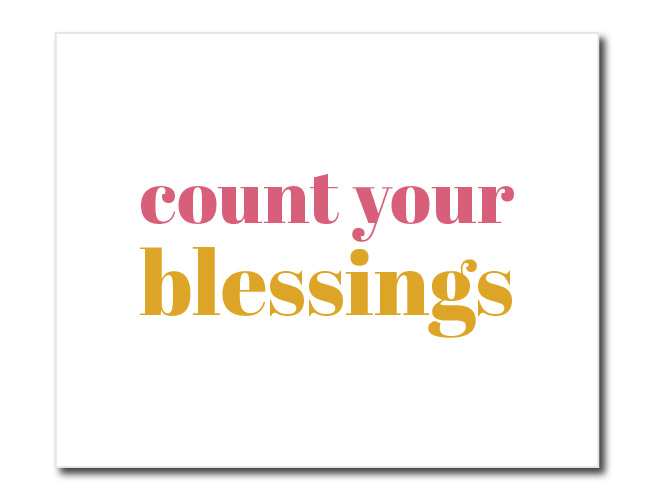 Count Your Blessings Printable Wall Art Decor | preperie.com