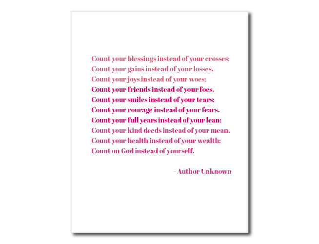 Blessings Poem Printable Wall Art Decor | preperie.com