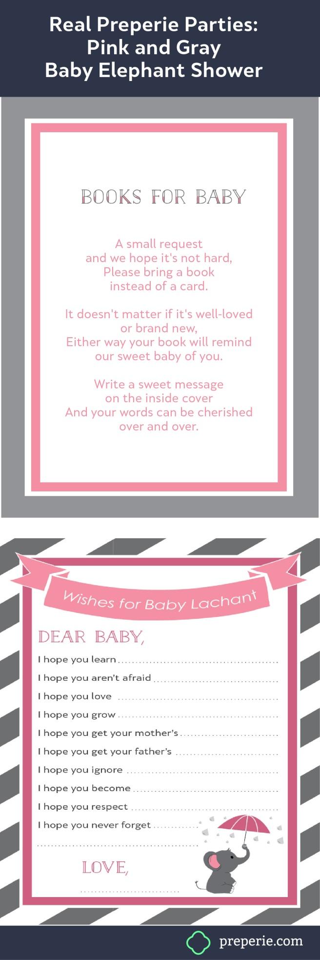 PinkGrayElephantBabyShower_For Baby